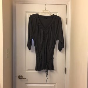 BR tunic with tie belt